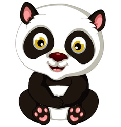 panda cartoon sitting vector image