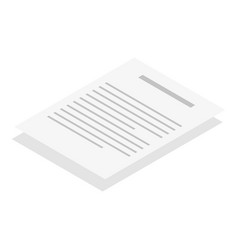 Papers icon isometric style vector