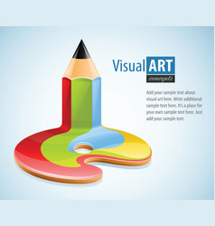 pencil as symbol of visual art vector image