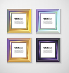 picture frame design image text vector image