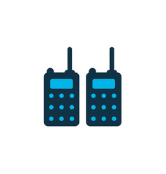 Portable radios icon colored symbol premium vector