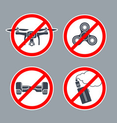 prohibition sign no hoverboard inside of round vector image