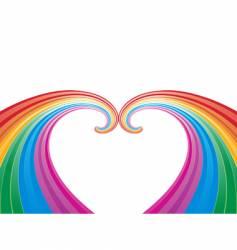rainbow abstract pattern vector image