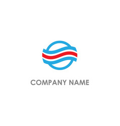 round line circle company logo vector image