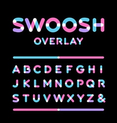 Rounded font alphabet with overlay effect letters vector