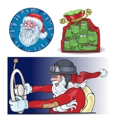 Santa Vraznykh types hurry to you vector image