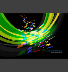 Scattered colors curve scene vector