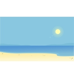 Silhouette of beach scenery with sun vector