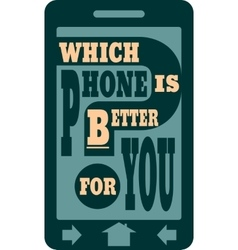 Smartphone icon flat Which phone is better text vector image