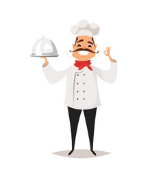 smiling chef cook vector image