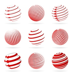 Sphere icons vector