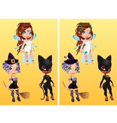 spot differences vector image