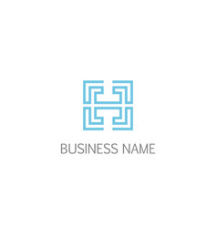 square line h initial logo vector image