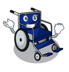 successful wheelchair in the a character shape vector image