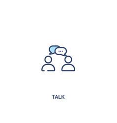 Talk concept 2 colored icon simple line element vector