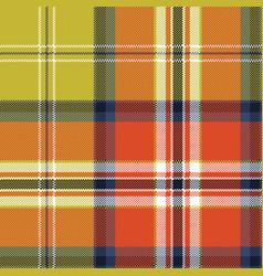 tartan plaid pixel seamless pattern vector image