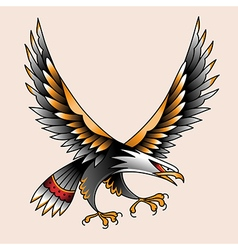 tattoo eagle vector image