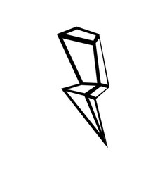 thunder iconthunder outline vector image