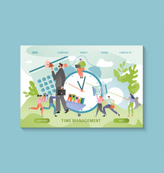 time management concept business people schedule vector image