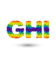 Triangular letters ghi vector