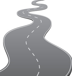 Twisty Road vector image