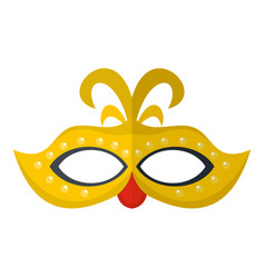 venice mask icon flat style vector image