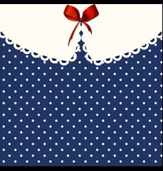 Vintage blue polka-dot dress printable background vector