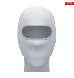 White balaclava ski mask vector