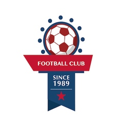 football Badge 1 vector image vector image