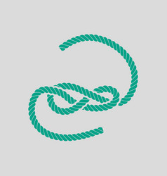 Knoted rope icon vector
