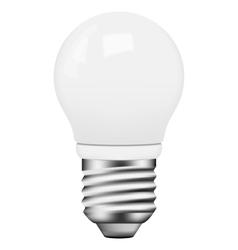 photo-realistic energy saving bulb vector image vector image