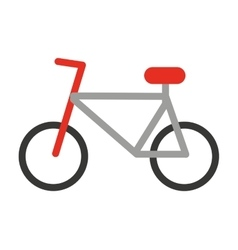 bicycle silhouette isolated icon design vector image vector image