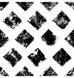 Black and white grunge squares print geometric vector image vector image