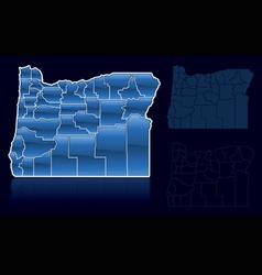 counties of oregon vector image