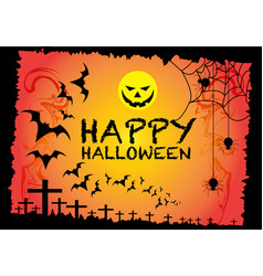 halloween background design for holiday festival vector image