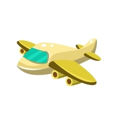 Little Plane Toy Aircraft Icon vector image