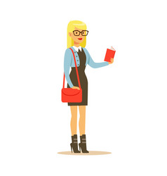 student lifestyle colorful character vector image vector image