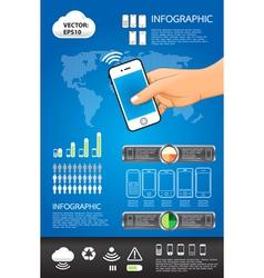 telephone info graphic vector image
