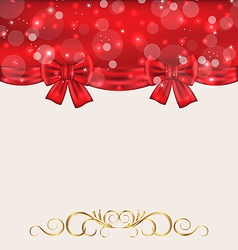 holiday background with gift bows vector image vector image