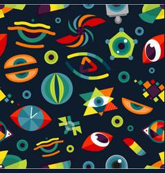 Human eye blinker abstract badge vector