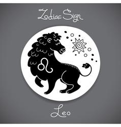 Leo zodiac sign of horoscope circle emblem in vector image vector image