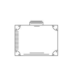 line icon suitcase vector image vector image
