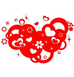 Love design element vector image