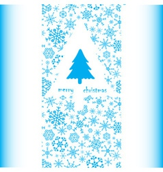 merry christmas card eps10 vector image
