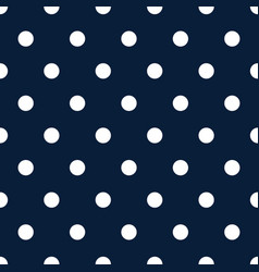 Retro pattern with white polka dots on dark blue vector
