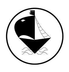 Ship or boat sign icon Shipping delivery symbol vector image vector image