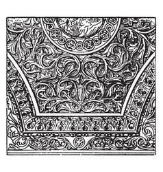 Spandrel moulding vintage engraving vector