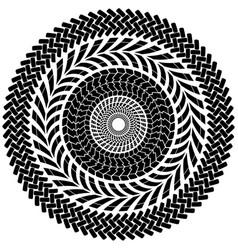 tire track brush seamless border circle vector image vector image