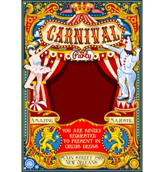 Circus Carnival Theme vintage 2d AurielAki vector image vector image
