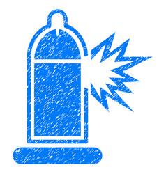 condom penis damage grunge icon vector image vector image